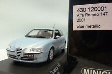 Wow extrêmement rare ALFA ROMEO 147 1.6 TS 2001 AZZURRO NUVOLA 1:43 Minichamps - 164