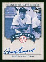 RANDY GUMPERT 2003 UPPER DECK YANKEES SIGNATURE SERIES PN-RG NICE! 23653