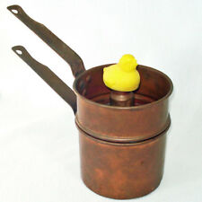 1930 Revere Copper Egg Boiler with Whistling Chick Finial