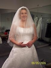 b49c89dbcf MAGGIE SOTTERO Coutour Bridal Gown Wedding Dress Size 16 Lace and Sheer  Overlay