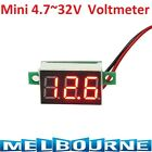 Mini Red 3 Digit LED Panel Voltage Meter Voltmeter Gauge Adjustment DC 32V Solar