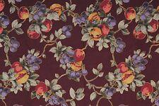 "Eclipse Upholstery Drapery Fabric Garden Grove Cotton Fruit Plum 43"" x 1.5 Yard"