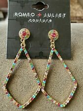 Romeo + Juliet Couture Crystal Earrings Multicolored