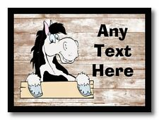 Piebald Horse Shabby Personalised Dinner Table Placemat