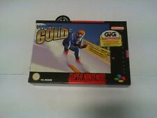 "WINTER GOLD ""NUOVO"" SUPER NINTENDO PAL"
