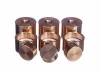 Holton MF 550 Trumpet Trim Kit Heavy Caps. KGUBrass. Raw Brass. TKHR100