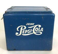 Vintage Blue Pepsi Cola Cooler Progress Refrigerator Co Louisville KY