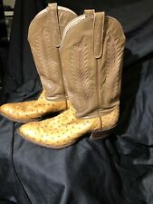 Tony Lama Men's Full Quill Ostrich, George Strait Special Edition. Size 11.5 B