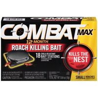 Combat Max 12 Month Roach Killing Bait Small Roach Bait Station 18 Count