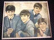 BEATLES - ORIGINAL 1964 BUDDIES CLUB OIL PORTRAIT, Mint