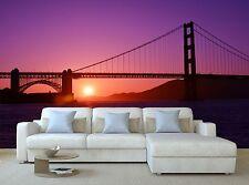 Golden Gate Bridge Wallpaper Mural Wall Paper Background Furniture