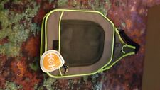 K&H Classy Go Pet Sling Carrier Brown/Lime Green Cat Dog 10x12