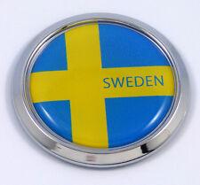 Sweden Swedish Round Flag Car Chrome Decal Emblem bumper Sticker bezel badge