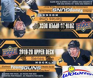 2019/20 Upper Deck Series 1 Hockey Sealed 24 Pack Retail Box-6 YOUNG GUNS+JERSEY