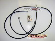 "STREAMLINE +1"" FRONT BRAKE LINES LINE KIT ATV BLACK HONDA TRX250EX TRX250X 2001+"
