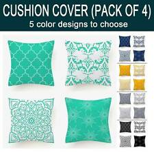 PACK OF 4, Floral Abstract Cushion Cover Throw Pillow Cover 45x45cm - 5 colors