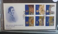 1993 NEW ZEALAND ROYAL DOUTON CERAMICS SET OF 6 STAMPS FDC FIRST DAY COVER