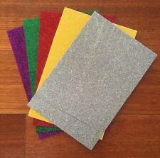 "5 PACK OF ""GLITTER PACK 2"" SELF ADHESIVE FOAM SHEETS, 15.5cm x 23cm sheets"