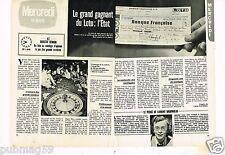 Coupure de presse Clipping 1981  (2 pages) Grand Gagnant du Loto : l'Etat