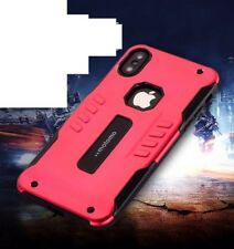 For Apple iPhone X Shockproof Dustproof Metal Bumper Armor Case Cover Gift Red