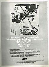 G- Publicité Advertising 1965 Le Moteur à compression élevée Audi