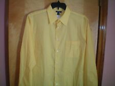 NWT NEW mens size L 16.5-17 36 bright yellow CROFT & BARROW l/s dress shirt $50