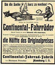 Continental- Fahrad- Fabrik Hermann Prenzlau Hamburg Historische Annonce 1904