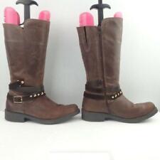Jones the Bootmaker Leather Boots Uk 4 Eur 37 Ladies Buckle Mid Calf Brown Boots
