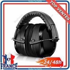 Casque Anti-bruit Protection Auditive Réglable Chantier Tir Sportif SNR 35dB