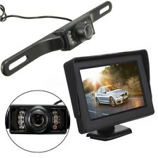 "Wireless 4.3"" LCD Monitor + IR Night Vision Reversing Camera Car Rear View Kit"