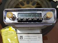 OLDTIMER AUTORADIO BLAUPUNKT FRANKFURT DE LUXE 32471 IN 6V ODER 12V RÖHRENRADIO