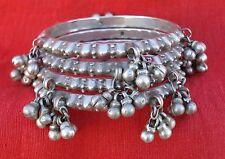 vintage antique tribal old silver bangle bracelet set traditional jewelry