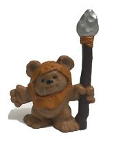 ✨ Star Wars Galactic Heroes Ewok Wicket with Spear PVC Action Figure Hasbro 2001