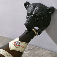 Black Cast Iron Beer Opener Wall Mounted Bear Bottle Opener Home Bar Useful Tool