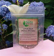 Lemon Balm - 100x Pure Herbal capsules or 100ml Organic Tincture