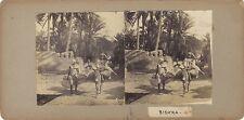 Biskra Scène orientaliste Algérie Stéréo Stereoview Vintage citrate