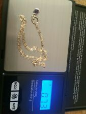9ct yellow gold necklace with Pendant 16 inch
