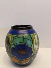 Dutch Netherlands Holland Schoonhoven Jaargety Pottery Vase Art Deco