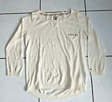 Tommy Hilfiger Pullover Gr. S Damen Weiß Shirt Pullover Sweatshirt Pulli Luxus