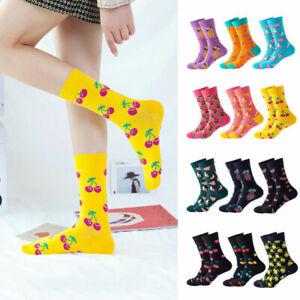 Funny Mid Tube Socks Fruit Printed Hip Hop Cotton Stockings Winter Trendy Socks
