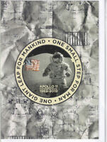 Apollo 11 Moon Landing 1969 - 2019 50th Anniversary Greetings Card patch light
