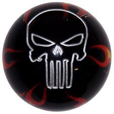 Black Flamed Punisher Skull Shift Knob M10x1.25 threads U.S MADE