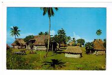 Postcard: Fijian Village, Fiji