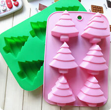 New Christmas tree Silicone Chocolate Cake Cookie Cupcake Soap Mold Mould