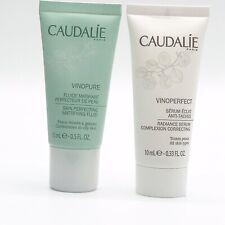 Lot 2x Caudalie Samples Vinoperfect Radiance Serum 10 ml + Vinopure Fluid 15 ml