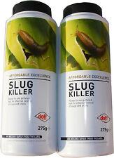 2 x 275g BOTTLES OF SLUG KILLER - BLUE MINI PELLETS - FOR SLUGS & SNAILS - NEW