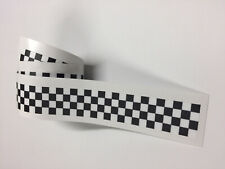 CHEQUERED Flag STRIPES Tape Decal Sticker Scooter Lambretta Vespa bike 003
