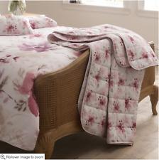 Luxury Fox & Brooke Decorative Quilt Floral Bedspread Throw 200 x 200 cm Double
