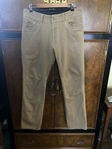 Exc KUHL Kanvus Jeans Mens Size 34 x 32 Tan Hiking Travel Canvas