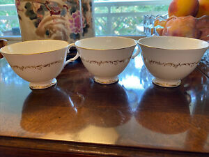 Lot Of 3 ROYAL DOULTON RICHELIEU H-4957 Footed Tea Coffee Cup EXCELLENT